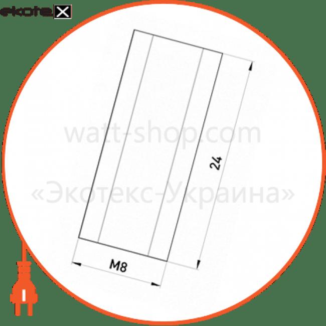 гайка подовжувач з різьбою м8, довжина 24 мм e.metiz.nut.6d.08.24 лотки металлические и аксессуары Enext m0030008