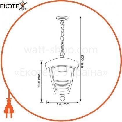 Horoz Electric 075-016-0002-010 светильник садово-парковый nar-2 е27