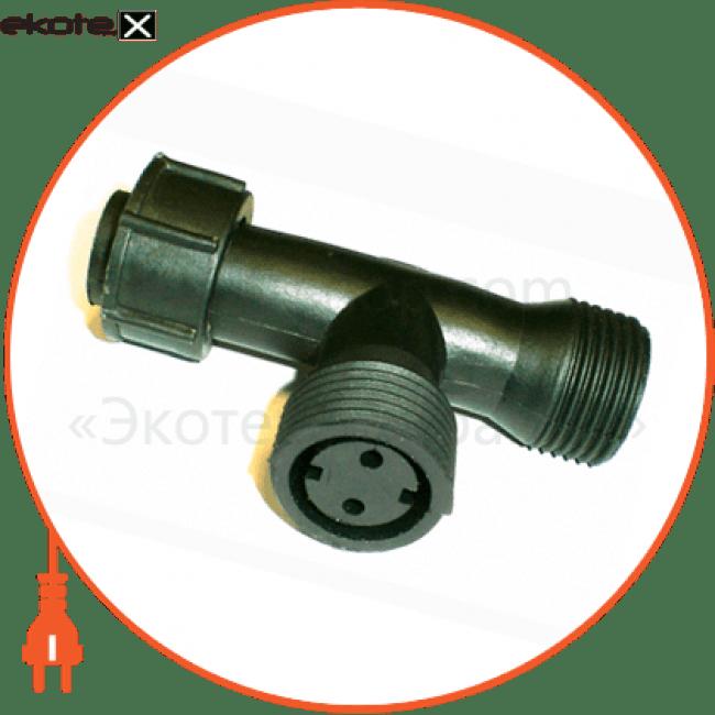 10073874 Delux комплектуюшие конектор до гірлянд t-type 2 виходи ip44