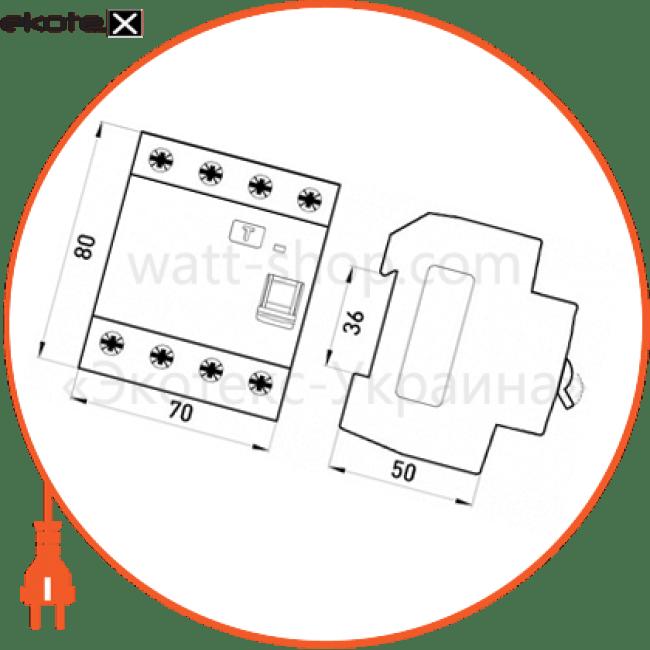 Enext p003024 выключатель дифференциального тока e.rccb.pro.4.63.100, 4р, 63а, 100ма