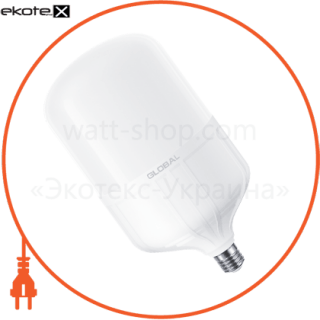 1-GHW-006-1 Global светодиодные лампы global лампа высокомощная 50вт, 4300лм, 6500k, ip65, e27 + переходник на e40 ra>80,pf>0,9 кп