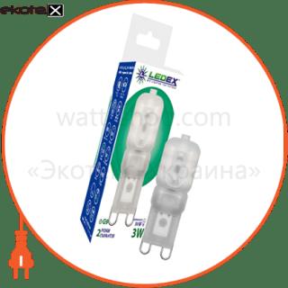 100498 Ledex светодиодные лампы ledex led лампа ledex g9 (3w dimmable, ac 220v, 4000k ) чип: epistar