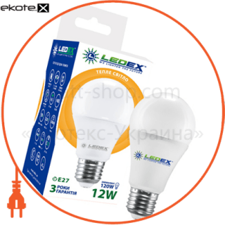 led лампа ledex 12w, e27, 1140lm, 3000к, 270°, чип: epistar (тайвань) светодиодные лампы ledex Ledex 100863