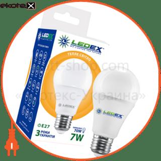 led лампа ledex 7w, e27, 665lm, 3000к, 270°, чип: epistar (тайвань) светодиодные лампы ledex Ledex 100865