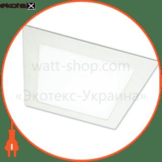 светодиодный светильник ledex, квадрат,  6w,  3000к тепло белый, матовое стекло, напряжение: ac100-265v, алюминий светодиодные светильники ledex Ledex 102110