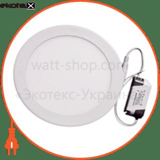 светодиодный светильник ledex, круг, 6w, 4000к нейтральный, матовое стекло, напряжение: ac100-265v, алюминий светодиодные светильники ledex Ledex 102203
