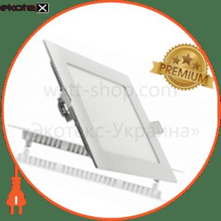 светодиодный светильник ledex, квадрат, 6w, 4000к нейтральный, матовое стекло, напряжение: ac100-265v, алюминий светодиодные светильники ledex Ledex 102210