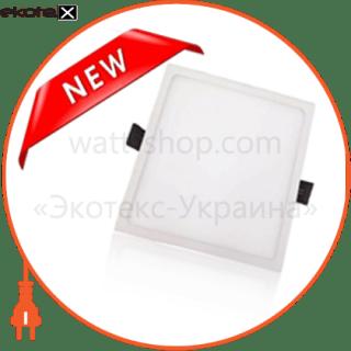 светодиодный светильник ledex, квадрат,  5w,  4000к нейтральный, матовое стекло, напряжение: ac100-265v, алюминий, тонкий светодиодные светильники ledex Ledex 102237