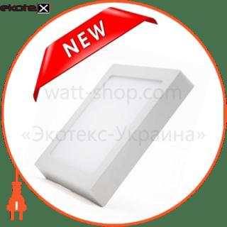 светодиодный светильник ledex, квадрат, накладной,  8w,  4000к нейтральный, матовое стекло, напряжение: ac100-265v, алюминий, тонкий светодиодные светильники ledex Ledex 102248