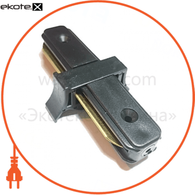 10320 Feron комплектующие для светильников ld1000 коннектор прямой для шинопровода однофазного , черный