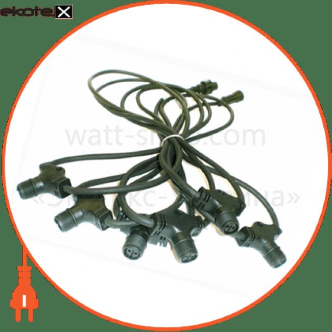конектор до гірлянд ip44 6 виходів комплектуюшие Delux 10108261