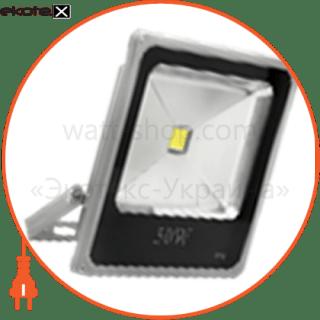 светодиодный прожектор ledex 50w, 3250lm, 6500к холодный белый, 120?, ip65, (slim) светодиодные светильники ledex Ledex 12729