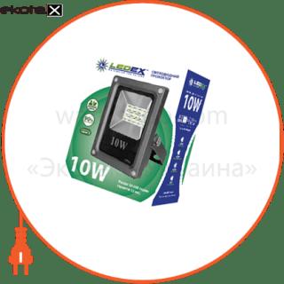 светодиодный прожектор ledex 10w slim smd, 900lm, 6500к холодный белый, 180?, ip65, tl12732 светодиодные светильники ledex Ledex 102324