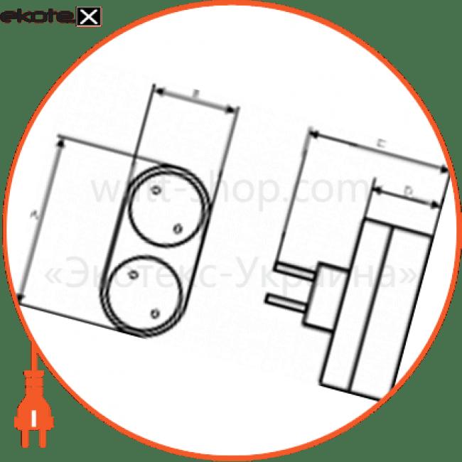 C-SS-0694 Electrum двойник разветвитель ss-2 2гн.  - c-ss-0694