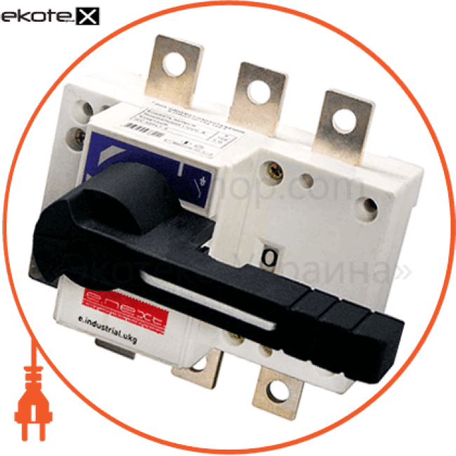 вимикач-роз'єднувач навантаження e.industrial.ukg.125.3, 3р, 125а, з фронтальною рукояткою управління выключатели-разъединители Enext i0590001