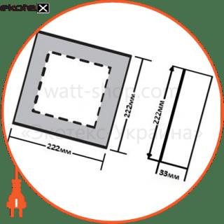 светодиодный светильник ledex, квадрат, накладной, 18w, 6500к , алюминий светодиодные светильники ledex Ledex 102172