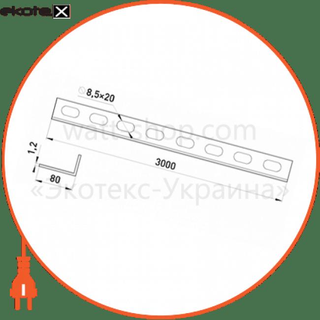 ASEP-8-12 Enext лотки металлические и аксессуары перегородка asep- 5-09, 80 мм, товщина 1,2 мм, довжина 3,0 м.