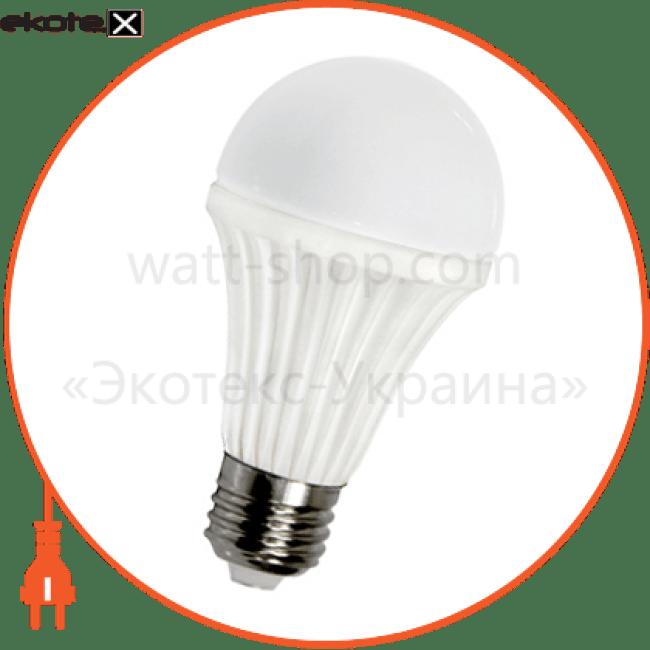 Лампа светодиодная e.save.LED.G60A.E27.9.4200 керамческая, тип шар, 9Вт, 4200К, Е27 (кер + стекло)