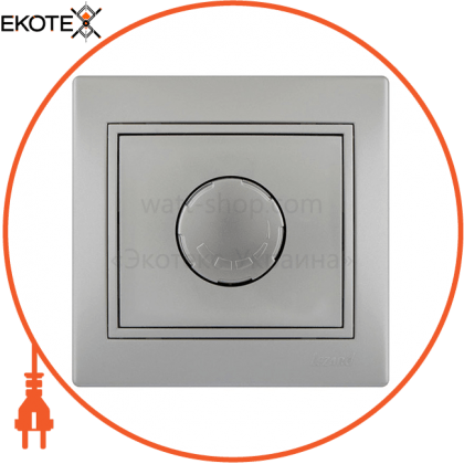 Lezard 701-1010-117 диммер 500 вт с фильтром и предохранителем 701-1010-117 цвет серый металлик 10ах 250v~