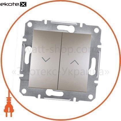 Schneider EPH1300169 выключатель для жалюзи самозаж бронза