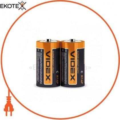 Videx 21154 videx батарейка солевая videx r14p/c 2pcs shrink 24 шт/уп