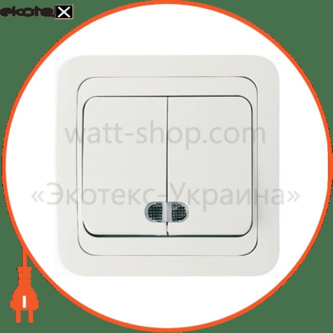 22023 Makel выключатель вимикач 2-клавішний з підсвітленням