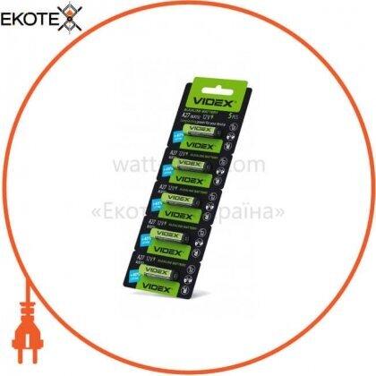 Videx 22822 videx батарейка щелочная а27 5pcs blister card 50 шт/уп