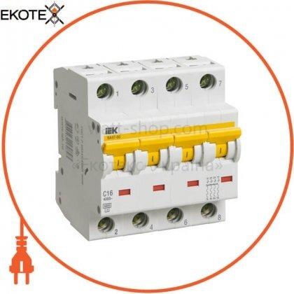 IEK MVA41-4-040-C автоматический выключатель ва47-60 4р 40а 6ка с iek