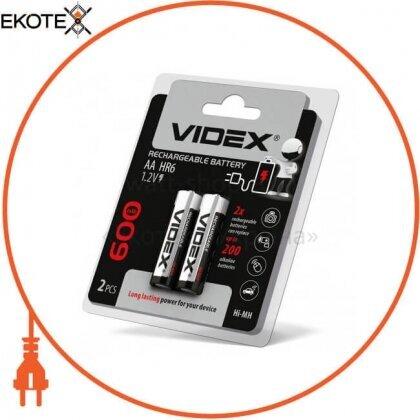 Videx 23338 аккумуляторы videx hr6/aa 600mah double blister/2pcs 20 шт/уп