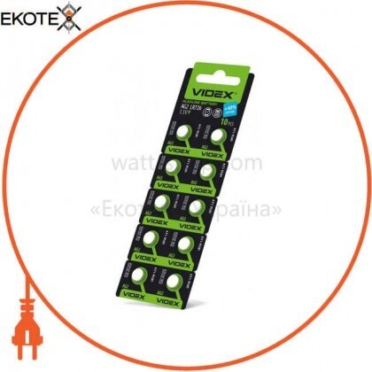 Videx 23422 батарейка часовая videx ag 2 (lr756) blister card 10 pc 100 шт/уп