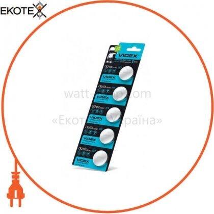 Videx Батарейка литиевая CR2450 5pcs blister card 100 шт/уп