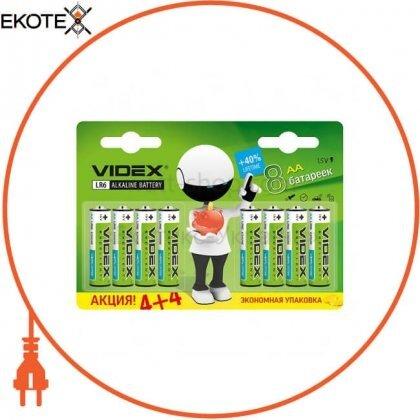 Videx 23483 videx батарейка щелочная lr6/aa 8 pcs blister card 80 шт/уп