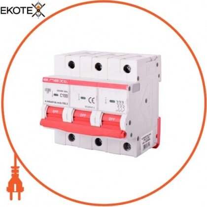 Enext i0630036 модульный автоматический выключатель e.industrial.mcb.150.3.c100, 3р, 100а, c, 15ка