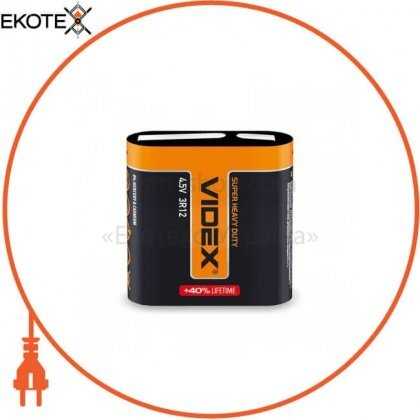 Videx 24231 батарейка солевая videx 3r12 1pc shrink (20/240)
