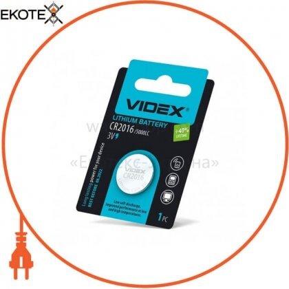 Videx 24232 videx батарейка литиевая cr2016 1pc blister card (24/648)