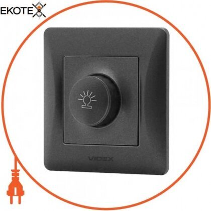 Videx 24464 videx binera диммер черный графит 600вт (vf-bndm600-bg) (16/96)