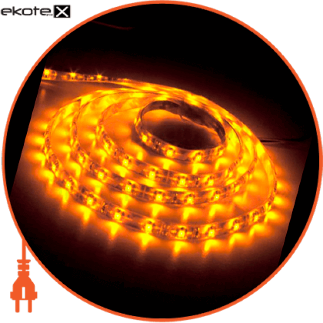 ls604/ sanan led-rl 60smd/m 4.8w/m 12v 5m*8*0.22mm желтый ip65 светодиодная лента feron Feron 27674