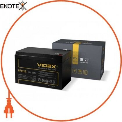 Videx 25078 аккумулятор свинцово-кислотный videx 6fm12 12v/12ah color box 1/8