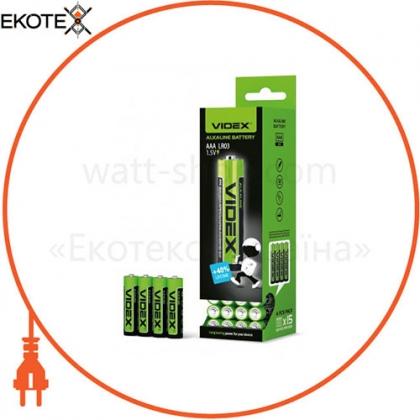 Батарейка щелочная Videx LR03/AAA 4pcs SHRINK (60/720)