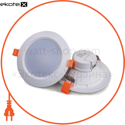 LED-DL-9/3(new) Eurolamp светодиодные светильники eurolamp eurolamp led світильник круглий downlight new 9w 3000k