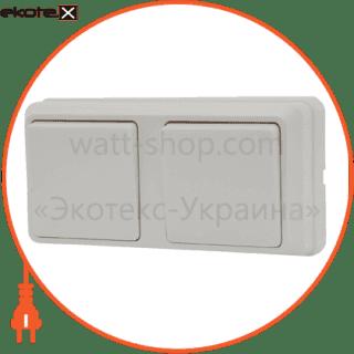 блок - 2 одноклав. выключателя 2вз10-10-cb-w арт. 2вз10-10-cb-w выключатель АСКО-УКРЕМ
