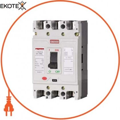 Enext i0660012 силовой автоматический выключатель e.industrial.ukm.100sl.50, 3р, 50а