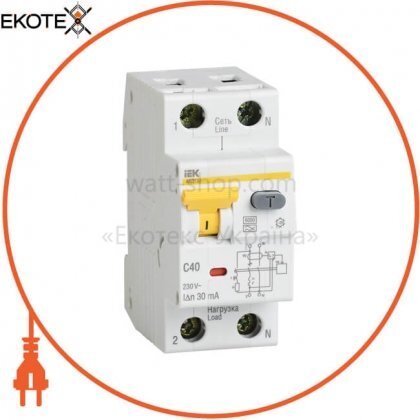 IEK MAD22-5-040-C-30 автоматический выключатель дифференциального тока авдт32 c40 30ма iek