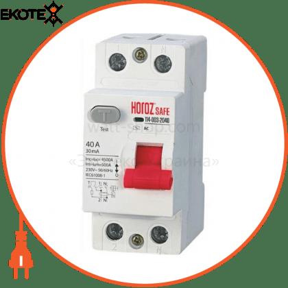 Horoz Electric 114-003-2040 дифференциальный автоматический выключатель 2р 40а 30ma 230v