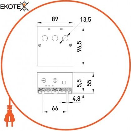 Enext p0690001 реле защиты двигателя e.control.m01, 12-60а