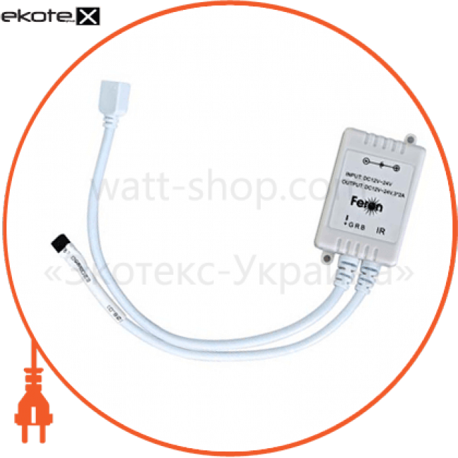 26260 Feron устройства управления ld 28 контроллер для rgb dc12v max 72w (2a*3 )