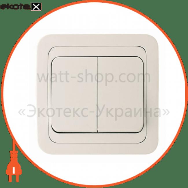 вимикач 2-клавішний выключатель Makel 32003