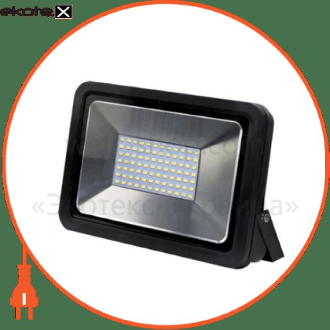 eurolamp led smd прожектор чорний 50w 6500k светодиодные светильники eurolamp Euroelectric LED-FL-50(black)