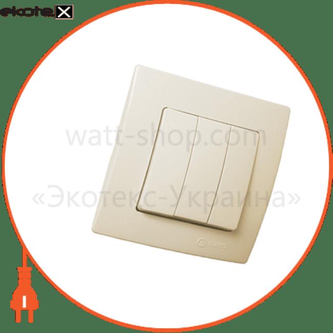 32010091 Makel выключатель вимикач 3-клавішний, 1 вхід, 3 виходи