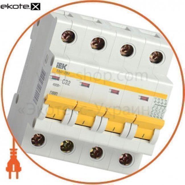 IEK MVA21-4-001-C авт. выкл. ва47-29м 4p 1a 4,5ка х-ка c iek